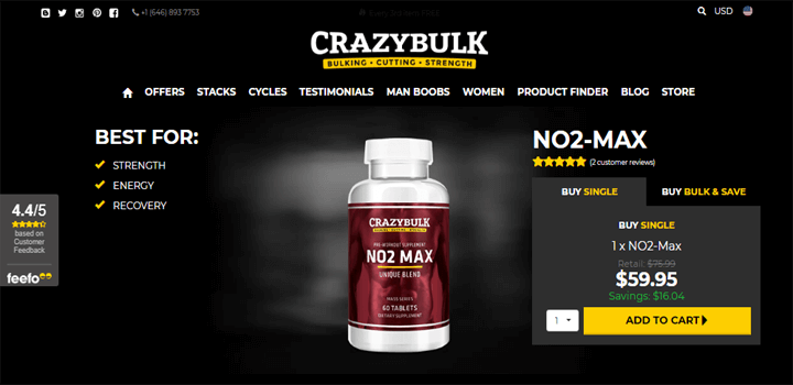NO2 Max Official Website