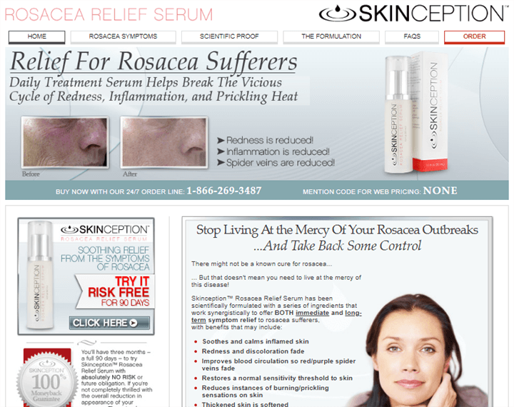 Skinception Rosacea Relief Serum Official Website