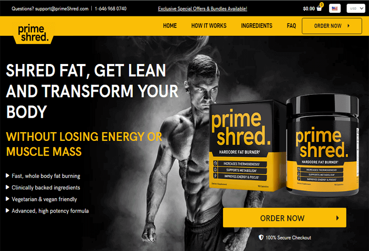 PrimeShred Official Website